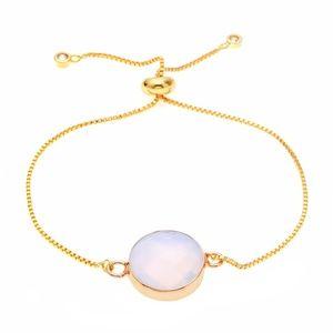 Gold and Opalite Druzy bracelet boho